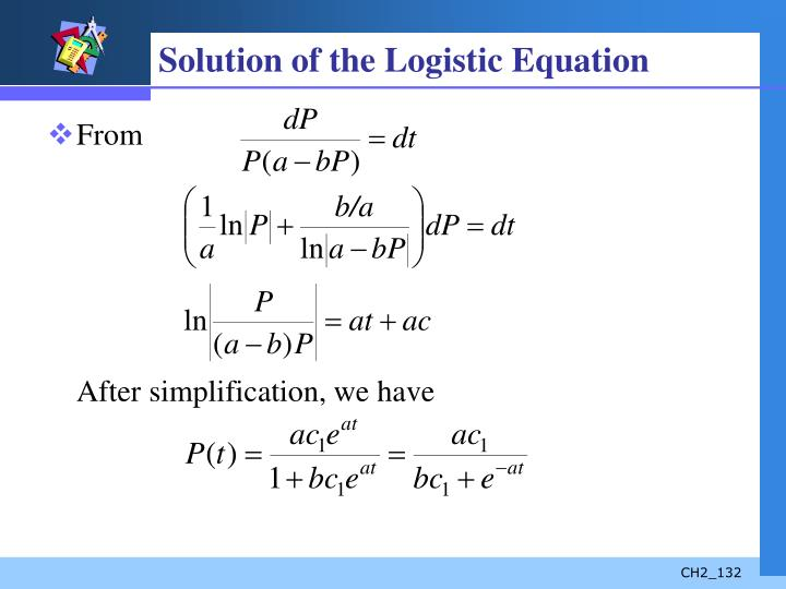 Solution of the Logistic Equation