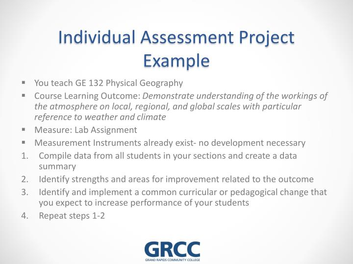Individual Assessment Project