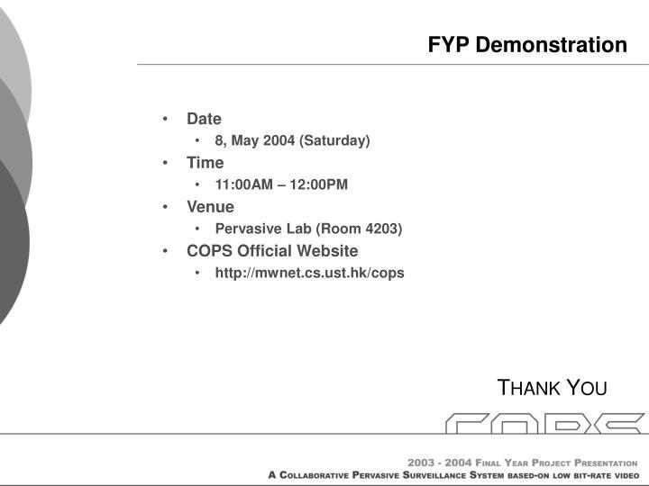 FYP Demonstration