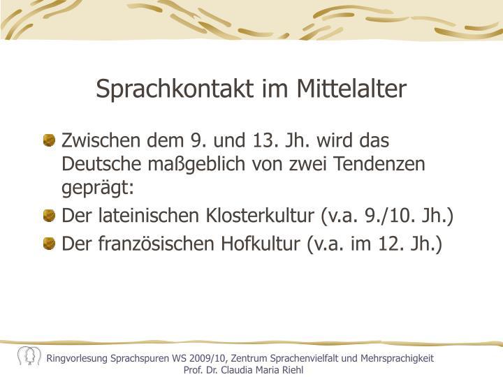 Sprachkontakt im Mittelalter