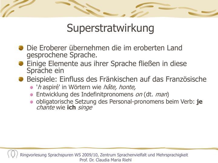 Superstratwirkung