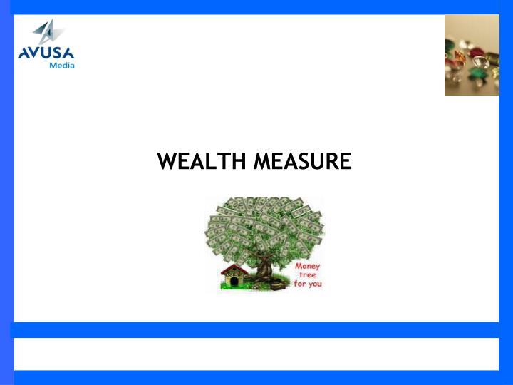WEALTH MEASURE