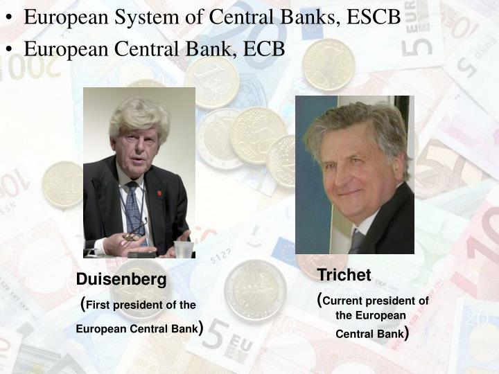 European System of Central Banks, ESCB