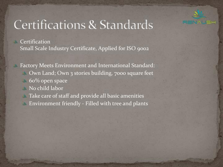 Certifications & Standards