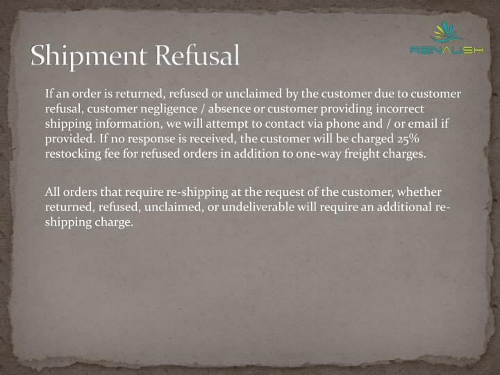 Shipment Refusal