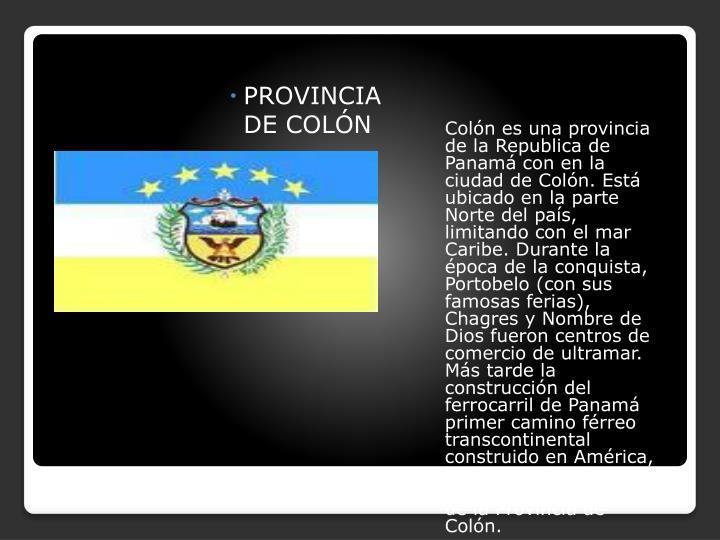 PROVINCIA DE COLÓN