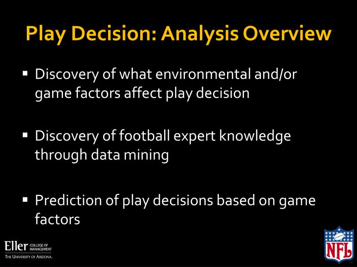 Play Decision: Analysis Overview