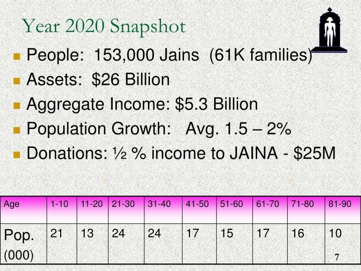 Year 2020 Snapshot