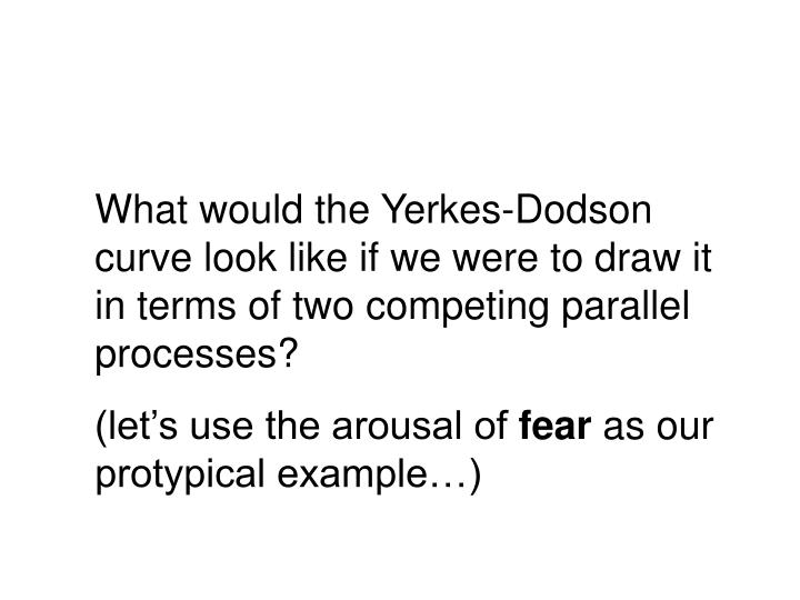What would the Yerkes-Dodson curve look like if we were to draw it in terms of two competing parallel processes?