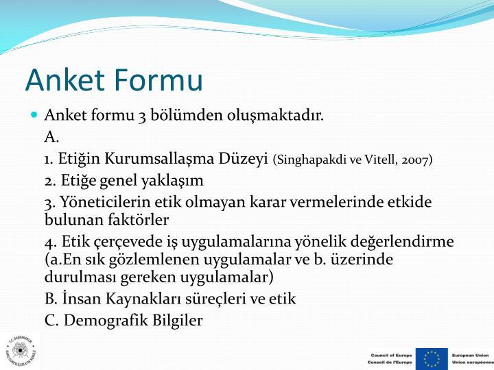 Anket Formu