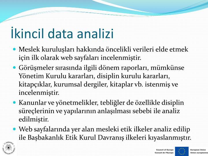 İkincil data analizi
