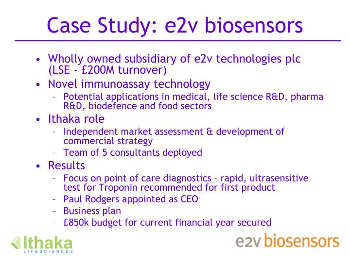 Case Study: e2v biosensors
