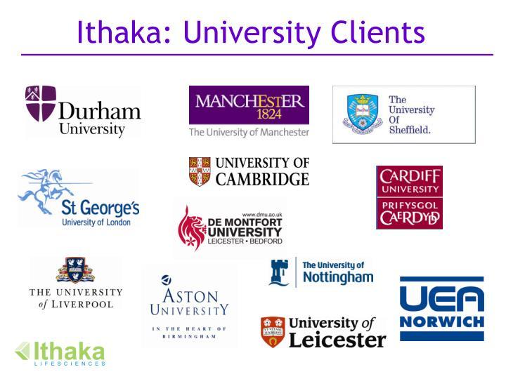 Ithaka: University Clients