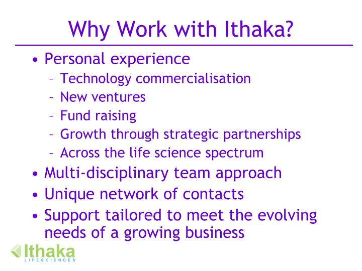 Why Work with Ithaka?