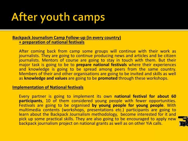After youth camps