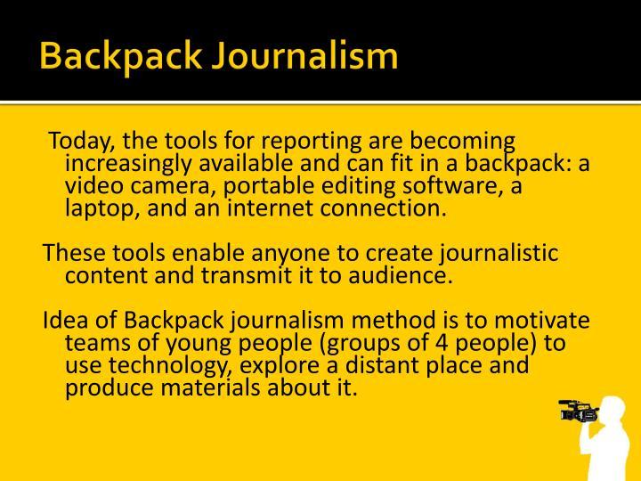 Backpack Journalism