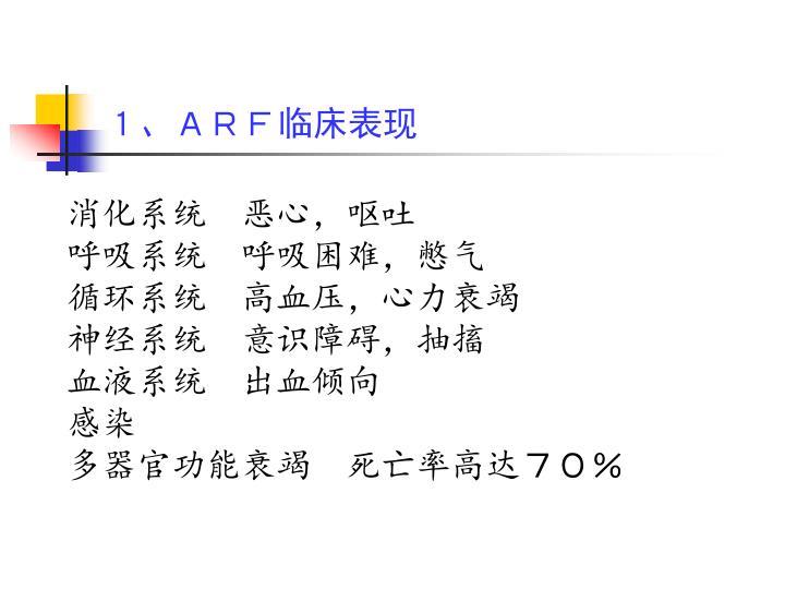 1、ARF临床表现