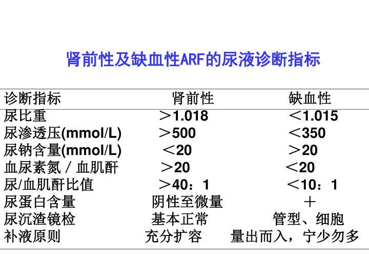 肾前性及缺血性
