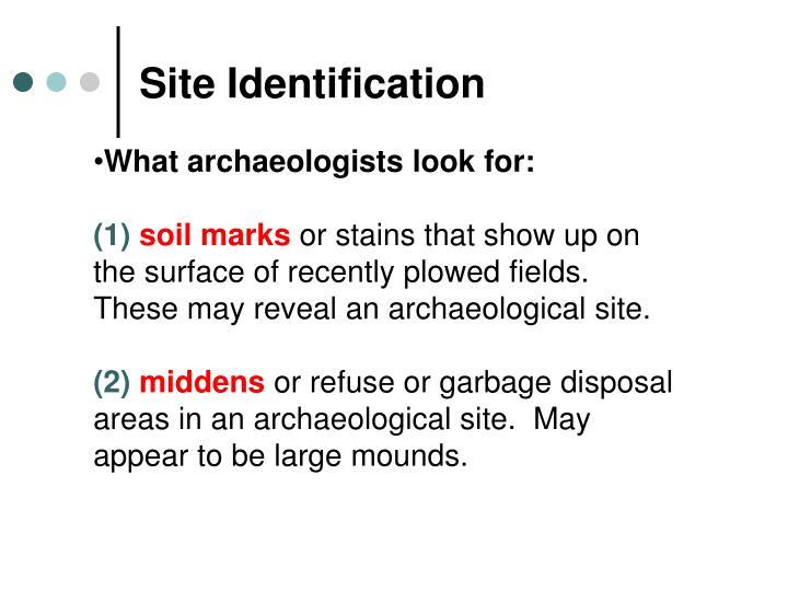 Site Identification