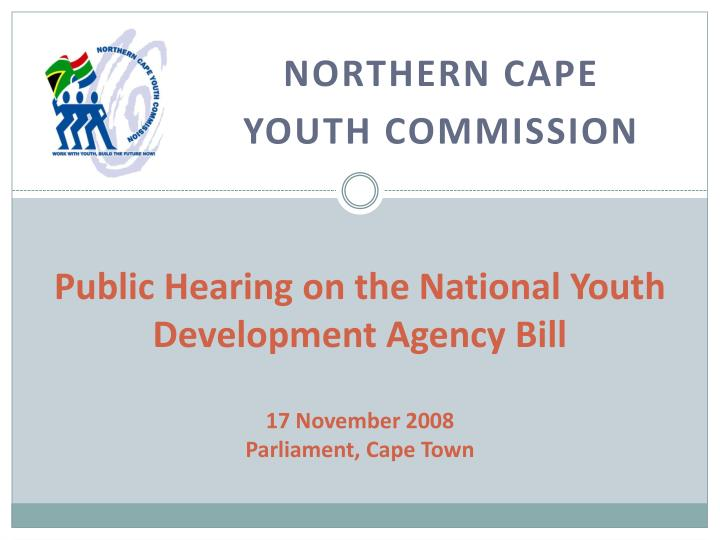 Public Hearing on the National Youth Development Agency Bill