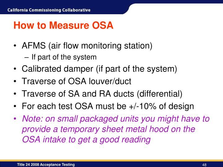 How to Measure OSA