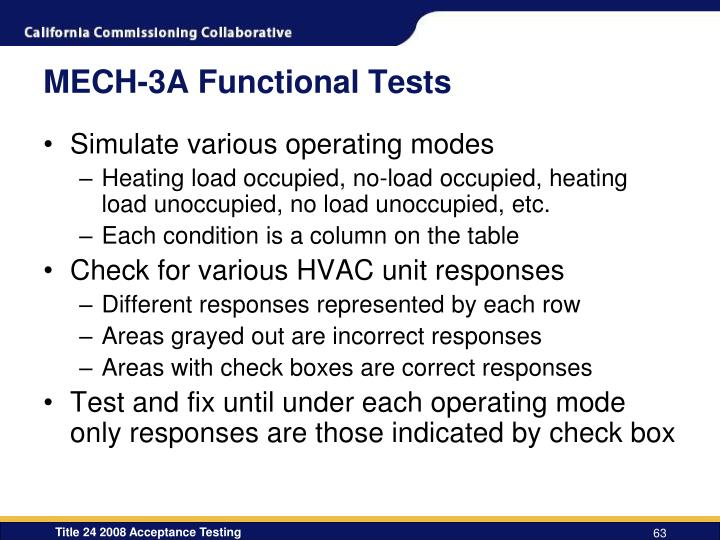 MECH-3A Functional Tests