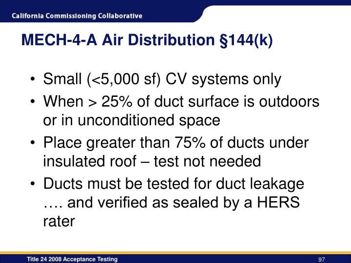 MECH-4-A Air Distribution