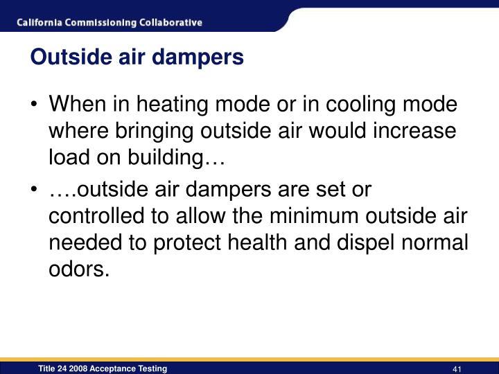 Outside air dampers