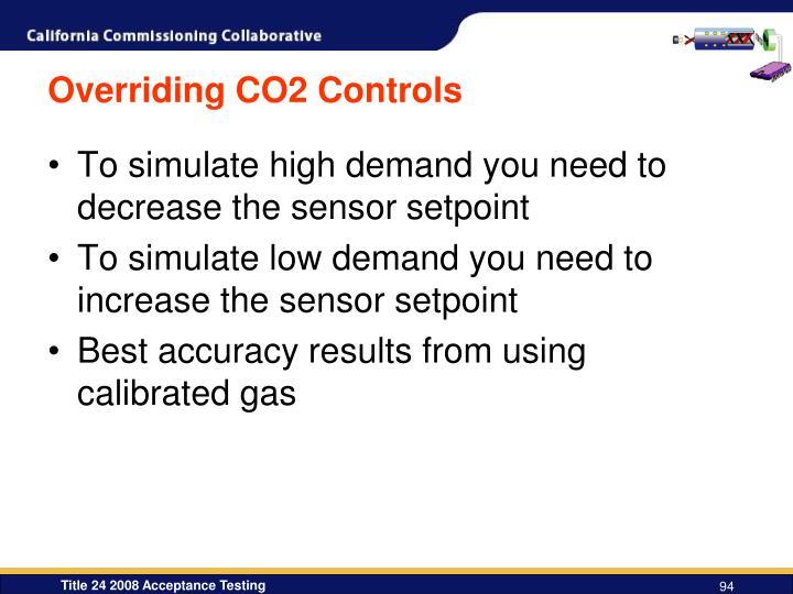 Overriding CO2 Controls