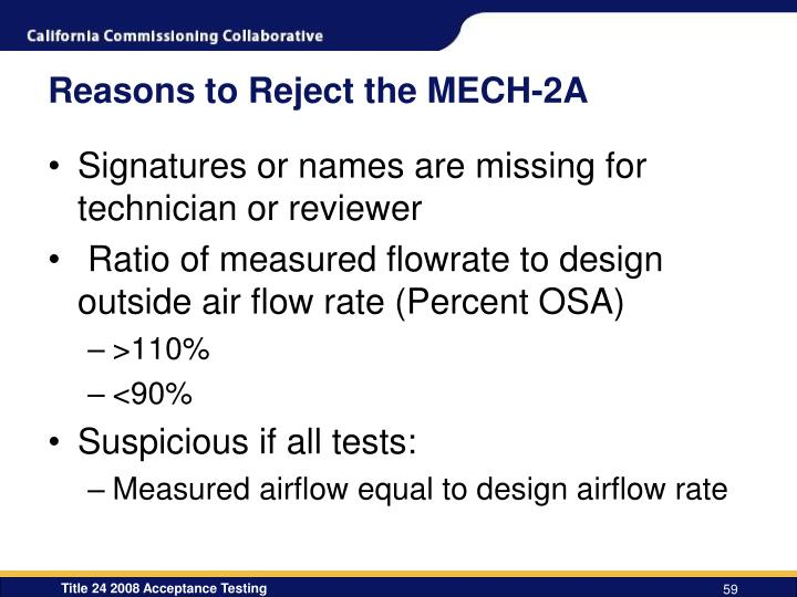 Reasons to Reject the MECH-2A
