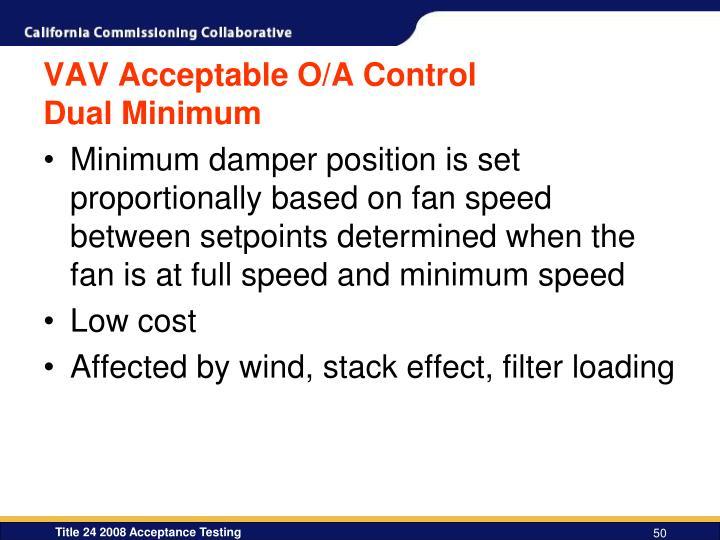 VAV Acceptable O/A Control