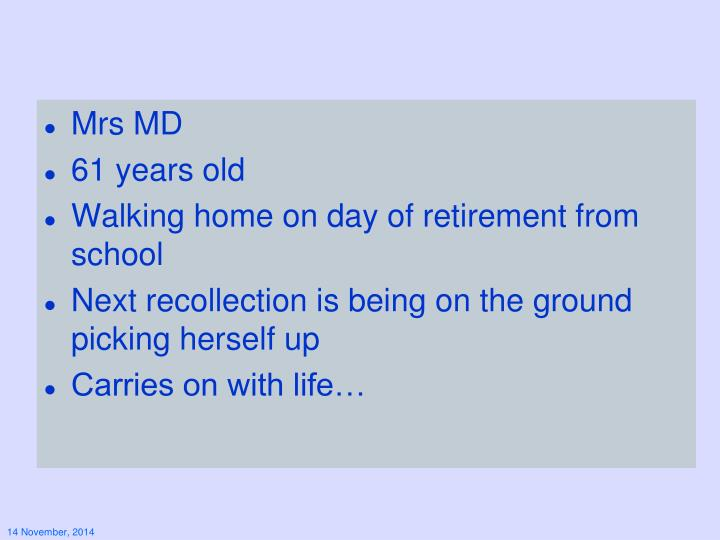 Mrs MD