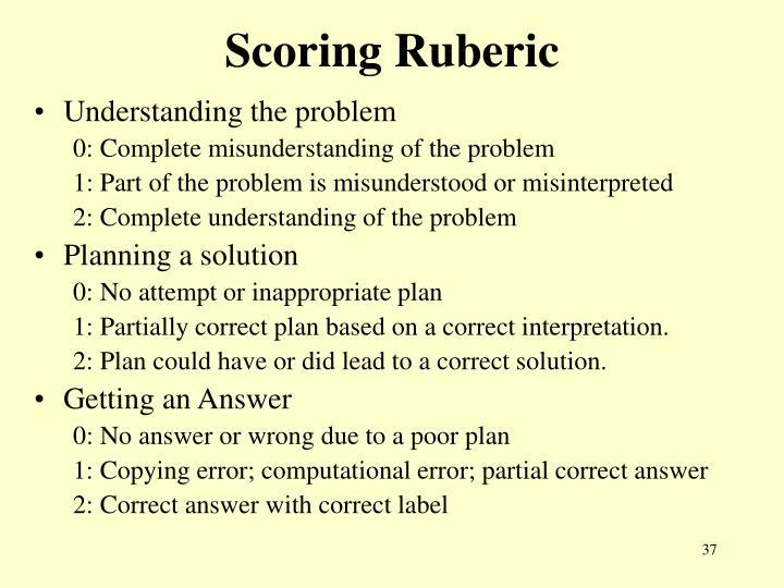 Scoring Ruberic