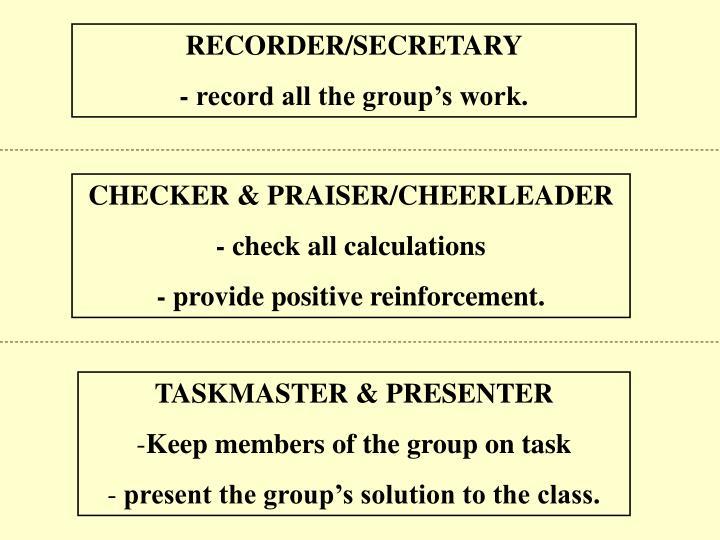 RECORDER/SECRETARY