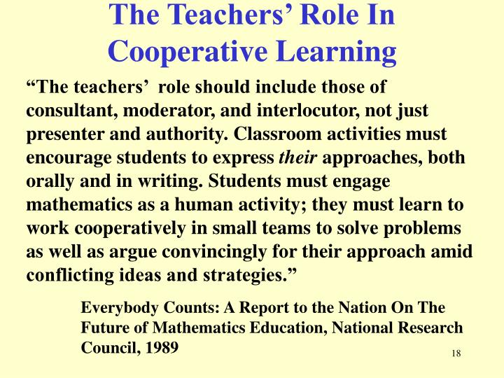 The Teachers' Role In