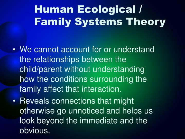 systems theory and human relations Systems & systems theory - 1 - management for health care professionals series 1930s to simplify world complexity to human mind and make it more understandable (von bertalanffy hospital systems consist of a pattern of organized relations where different.