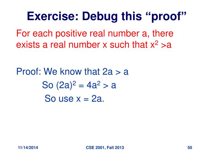 "Exercise: Debug this ""proof"""