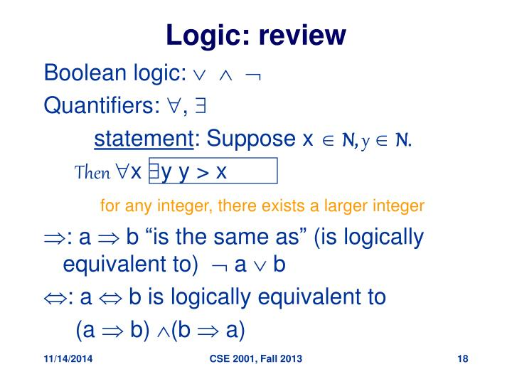 Logic: review