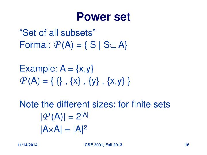 Power set