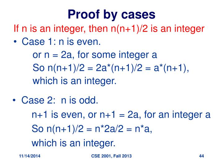 Proof by cases