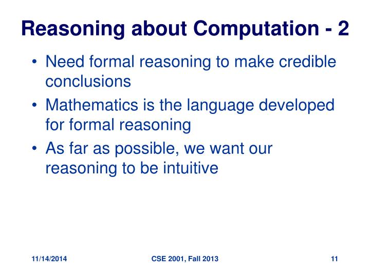 Reasoning about Computation - 2