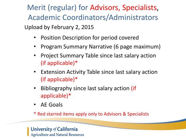 Merit (regular) for