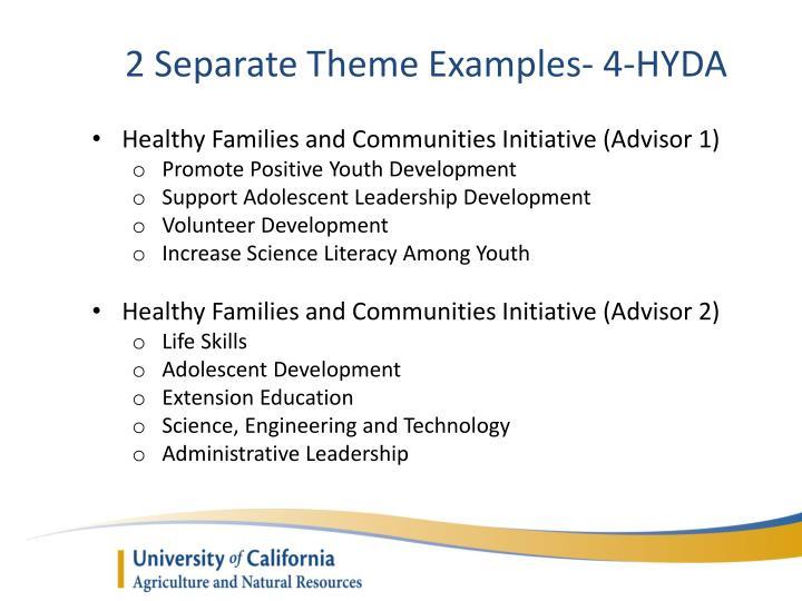 2 Separate Theme Examples- 4-HYDA