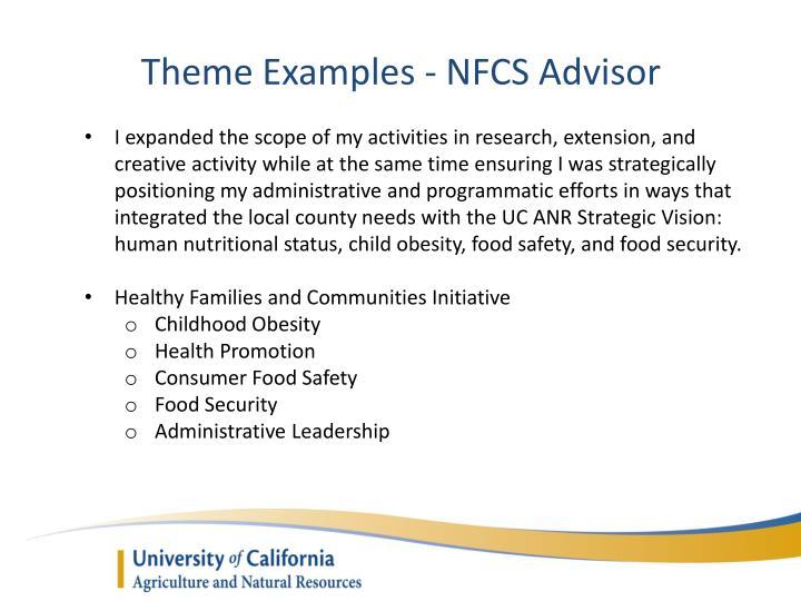 Theme Examples - NFCS Advisor