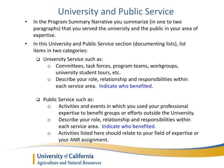 University and Public