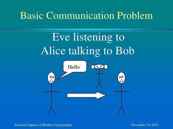 Basic Communication Problem