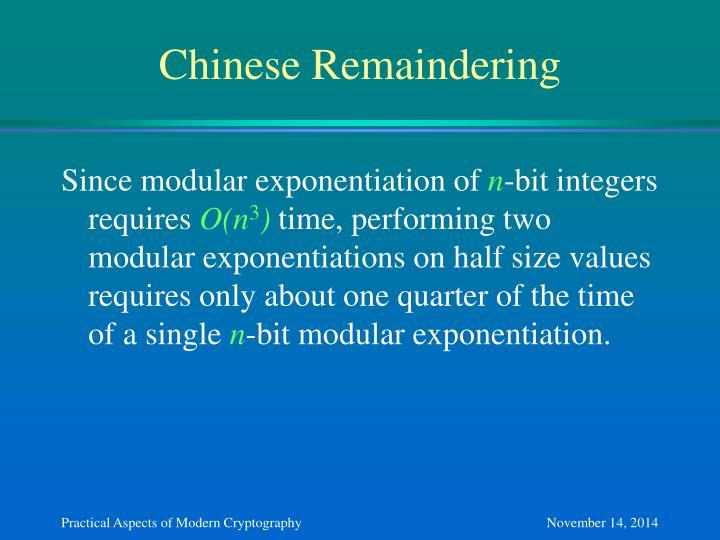 Chinese Remaindering