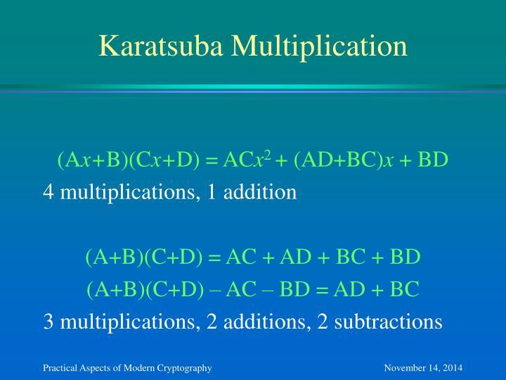 Karatsuba Multiplication
