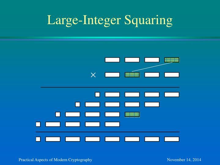 Large-Integer Squaring