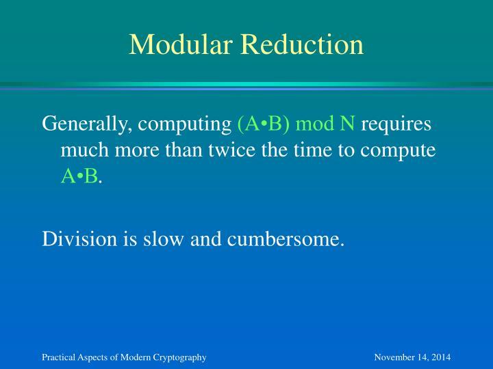 Modular Reduction